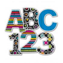 """Carson Dellosa CD-130059 Colorful Chalkboard 4"""" EZ Letters"""