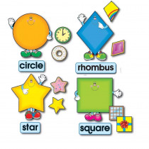 CD-3273 - Bulletin Board Set Shapes 8 Shapes 8 Words 16 Accents in Miscellaneous
