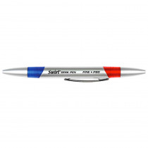 JRMP80 - Swirl Desk Pens Red/Blue 12/Pk in Pens