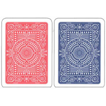 Modiano Plastic Playing Cards, red/Blue, Poker Size, Blackjack Index