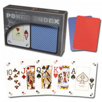 Modiano Plastic Playing Cards, Red/Blue, Poker Size, Peek Index