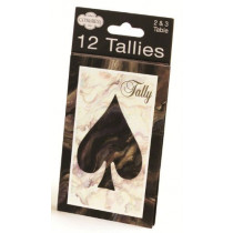 Congress Black Marble Heart & Spade Tally Cards