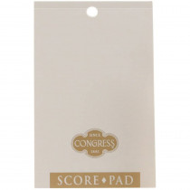 Congress White & Gold Score Pads