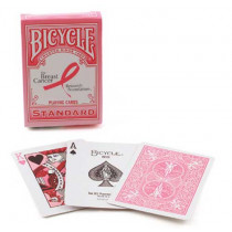 Show your support with a Pink Ribbon deck. 15¢ of sales from each deck of Bicycle® Pink Ribbon Playing Cards will be donated to the Breast Cancer Research Foundation.
