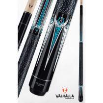 Valhalla VA602 Black and Turquoise Pool Cue Stick from Viking Cue