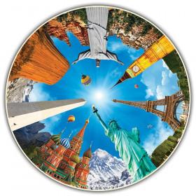 Round Table Puzzle, Legendary Landmarks, 500-Piece