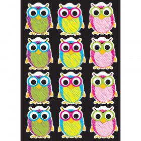 Die-Cut Magnetic Scribble Owls, 12 Pieces