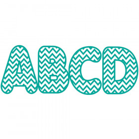 Turquoise Chevron 2-3/4 In Designer Magnetic Letters