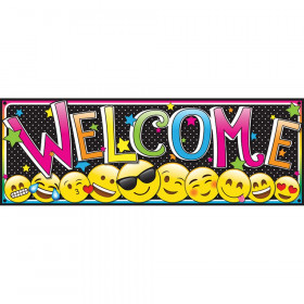"""Magnetic Emoji Welcome Banner, 6"""" x 17"""""""