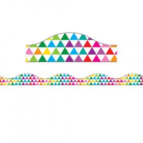 Magnetic Scallop Border Color Triangles, 12'