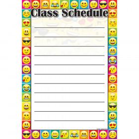 Emoji Class Schedule Smart Poly 13X19 Chart
