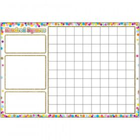 Smart Confetti Hundred Squares Chrt Dry-Erase Surface