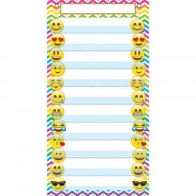 "Smart Poly Pocket Chart, 13"" x 25"", 10 Pockets & 2 Grommets, Emoji"