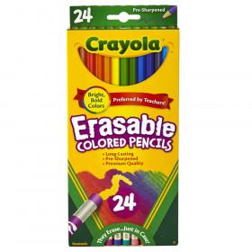 Erasable Colored Pencils, 24 Count