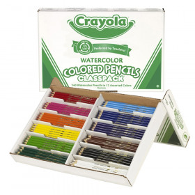 Watercolor Pencils Classpack, 12 Colors, 240 Count