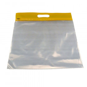 ZIPAFILE Storage Bag, Yellow, Pack of 25