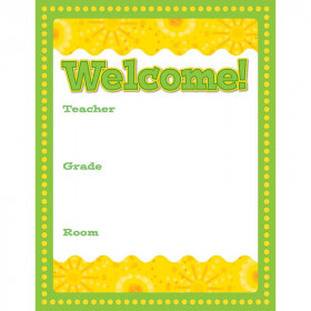Lemon Lime Welcome Chart