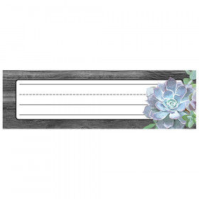 """Simply Stylish Succulent Nameplates, 9.5"""" x 2.875"""", Pack of 36"""
