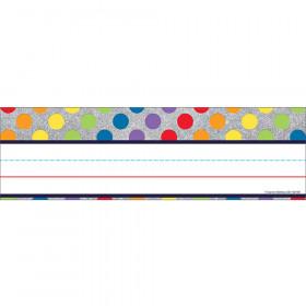 Rainbow Dots On Glitter Nameplates Sparkle And Shine