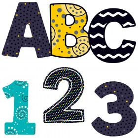 Black, White & Bold EZ Letters