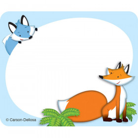 Playful Foxes Name Tags