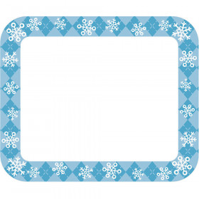 Snowflakes Name Tags