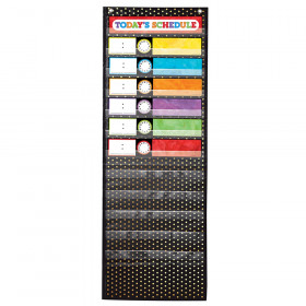Deluxe Scheduling: Gold Polka Dot Pocket Chart