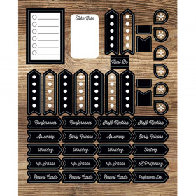 Industrial Chic Planner Accents Sticker Pack, 252 Stickers