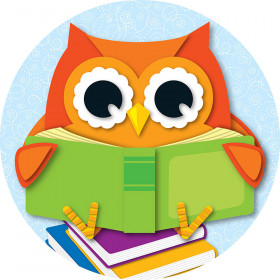 Reading Owl Two-Sided Decoration
