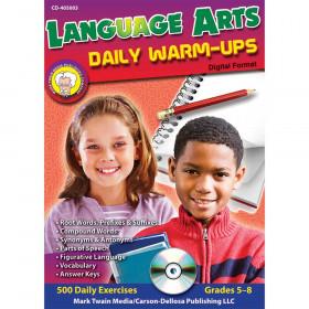 Language Arts Daily Warm-ups CD-ROM, Grades 5 - 8