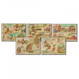 Ancient Civilizations and Cultures Topper Bulletin Board Set