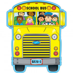 School Bus Two-Sided Decoration