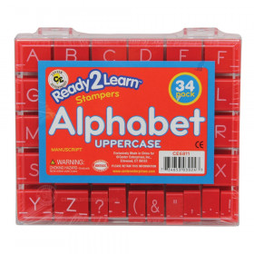 Alphabet Stamps, Uppercase, Small, Set of 34