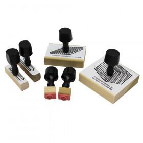 Stamp Set Base 10 Block 6-Pk 2 Units & Rods/1 Flat & Cube