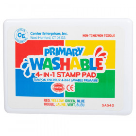 Stamp Pad Primary Washable Red Blue Yellow Green