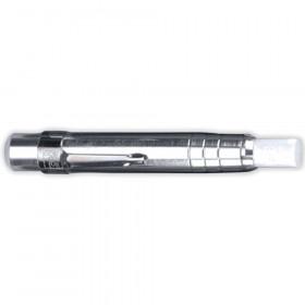 Chalk Holder Aluminum Silver W/Chalk