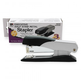 Executive Metal Stapler, Half Strip, Gray