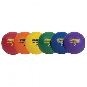 Playground Ball Set Of 6 Rhino 7In