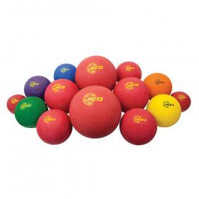 14 Asst Sizes Playground Ball Set