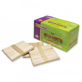 """Regular Craft Sticks, Natural, 4-1/2"""" x 3/8"""", 1000 Pieces"""