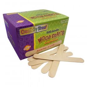 """Jumbo Craft Sticks, Natural, 6"""" x 0.75"""", 500 Pieces"""