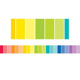 Painted Palette Rainbow Paint Chip Borders, 35 Feet