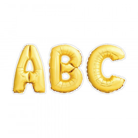 Gold Mylar Balloon Punch-Out Uppercase Letters