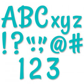 "Stylish Turquoise 4"" Designer Letters, 235/Pack"