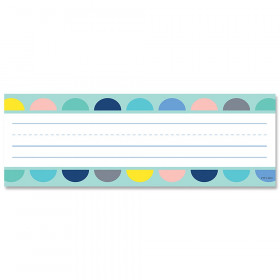 Calm & Cool Half-Dots on Turquoise Name Plates, 36/Pack