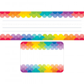 Rainbow Name Plate and Label Combo Set, 72 Pieces