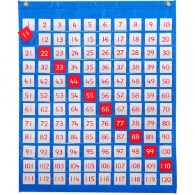 "1-120 Pocket Chart, 27"" x 31.89"""