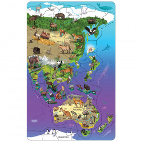 Wildlife Map Puzzle Asia  Australia