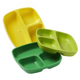 Divided Plates, Citrus, Set of 3