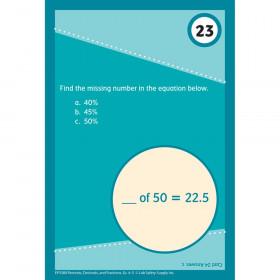 Brain Blasters Math Practice Cards Percents/Decimals/Fractions Gr 4-5